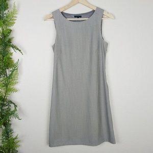 Theory Shift Dress Heather Gray Wool Blend Size 2